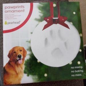 NIB Pearhead Pawprints Ornament Kit